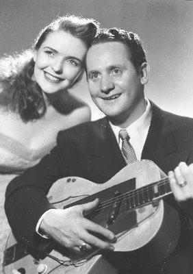 Mary Ford and Les Paul, in a vintage publicity photo.