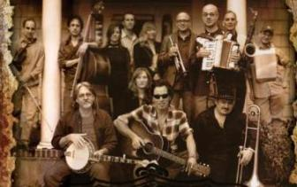 An image used to publicize Bruce Springsteen's Seeger Sessions Band tour in 2006.