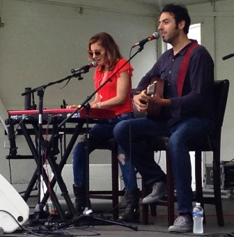 Chrissi Poland and Ari Hest performed as Bluebirds of Paradise at the Rockland-Bergen Music Festival.