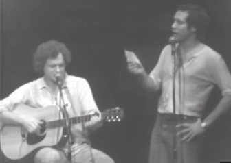 Harry Chapin and Chevy Chase at the Capitol Theatre in Passaic in 1978.