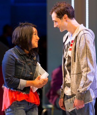 """Stephanie Hsu and Will Connolly co-star as high school students in """"Be More Chill."""""""