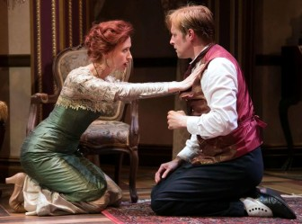 """Jon Barker and Victoria Mack co-star in """"The Guardsman,"""" which is at the Shakespeare Theatre of New Jersey in Madison through July 26."""