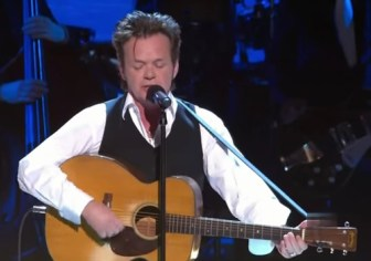 "John Mellencamp performs ""Born in the USA"" in 2009."