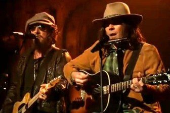 """Bruce Springsteen and Jimmy Fallon (as Neil Young) sing """"Whip My Hair."""""""