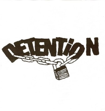 The logo for the '80s band, Detention.