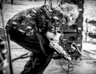"""A image of the late Stone Caravan bassist Mr. Lou Demartino, used in the new video for Joe D'Urso and Stone Caravan's """"Come Down Tonight (Asbury Park)."""""""