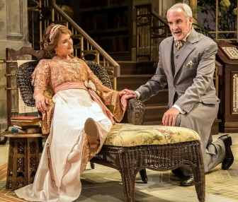 "Katie Fabel and Jonathan Gillard Daly co-star in ""Misalliance,"" which is at the Shakespeare Theatre of New Jersey in Madison through Aug. 30."