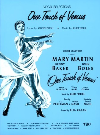 """The cover of a collection of sheet music for the musical, """"One Touch of Heaven."""""""