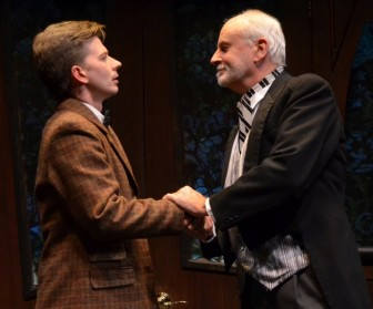 "Christopher J. Young, left, and Craig MacDonald co-star in ""The Nether,"" which is at the Sitnik Theatre of the Lackland Center in Hackettstown through Oct. 15."