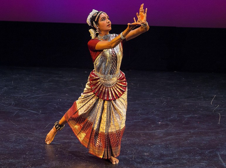 "Ramya Ramnarayan dances the role of Kaikeyi in ""Heritage Heroines."""