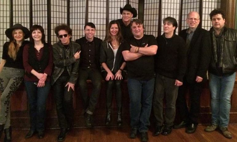 Performers at Saturday's Light of Day concert at the Outpost in the Burbs included, from left, Chrissi Poland, Loretta Hagen, Willie Nile, Richard Barone, Jill Hennessy, John Easdale (back row), Joe D'Urso, Nick Celeste, Seth Saltzman and Peter Wood.