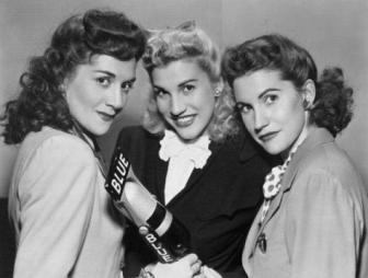 The Andrews Sisters, in a vintage publicity shot.