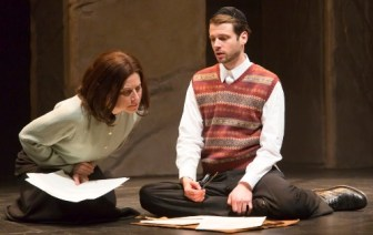 """Miles G. Jackson plays the title character of """"My Name Is Asher Lev,"""" with Lena Kaminsky as his mother, at the George Street Playhouse in New Brunswick through May 1."""