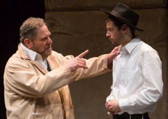 """Bob Ari as master painter Jacob Kahn, with Miles G. Jackson in """"My Name Is Asher Lev."""""""