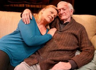 """Kim Zimmer and Thomas Molyneaux in """"Old Love New Love."""""""