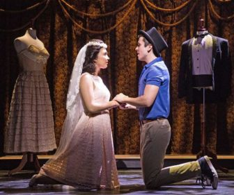 "Belinda Allyn and Matt Doyle co-star as Maria and Tony in ""West Side Story,"" at the Paper Mill Playhouse in Millburn."