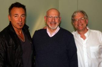 "Bruce Springsteen with Al Mercuro, center, and Paul Erickson. Mercuro and Erickson co-directed the documentary included on Roger McGuinn's 2-CD, 1-DVD 2014 released, ""Stories, Songs & Friends,"" for which Springsteen was interviewed."