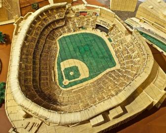 Stan Munro's toothpick Yankee Stadium is currently on display at the Morris Museum.