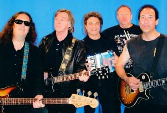 "From left, members of The Raz Band include Jim Manzo, Joey Molland, Joe Vitale, Jeff ""Hutch"" Hutchinson and Michael ""Raz"" Rescigno."