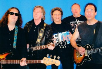 "From left, members of The Raz Band include Jim Manzo, Joey Molland, Joe Vitale, Jeff ""Hutch"" Hutchinson and Michael ""Raz"" Rescigno."