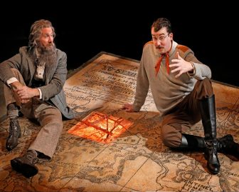 """Rik Walter, left, and Ian Gould co-star in """"King of the Mountains,"""" which is at Luna Stage in West Orange through Oct. 30."""