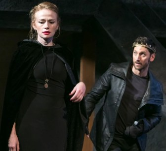 "Gretchen Hall and Derek Wilson in ""Richard III."""