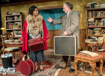 """Erika LaVonn played Marian Anderson, with Joel Leffert as Albert Einstein, in """"My Lord, What a Night."""""""