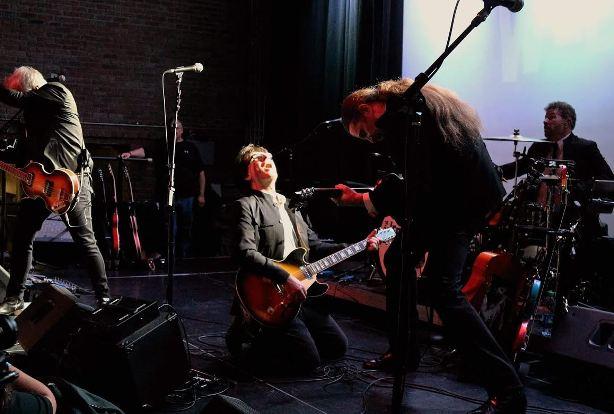From left, Glen Burtnik, Bob Burger, John Merjave and Joe Bellia of The Weeklings perform at House of Independents in Asbury Park.