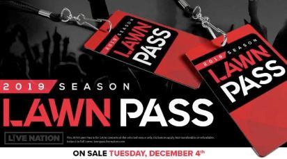 PNC Bank Arts Center lawn pass