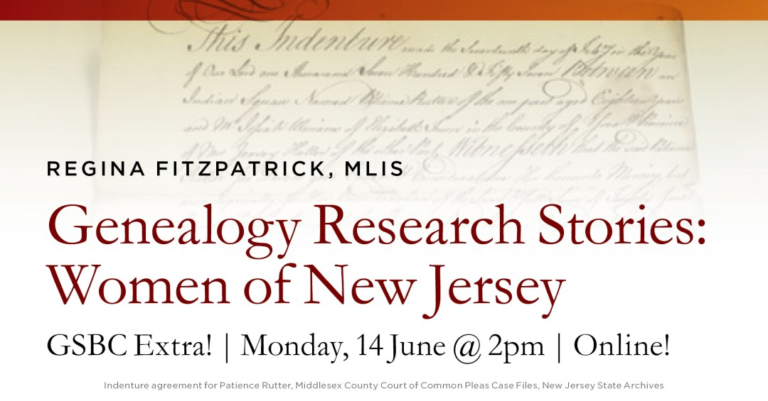 Genealogy Research Stories: Women of New Jersey