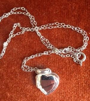 Silver locket for blog