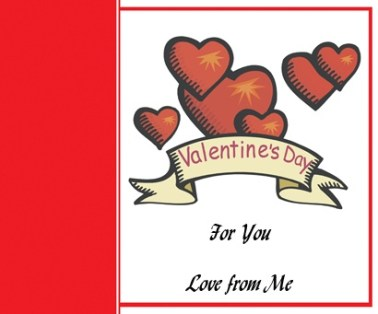 ValentineCard with writing