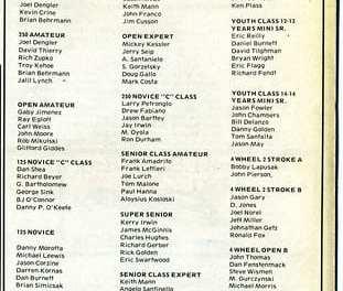 Results Flashback RPMX 10/1/89