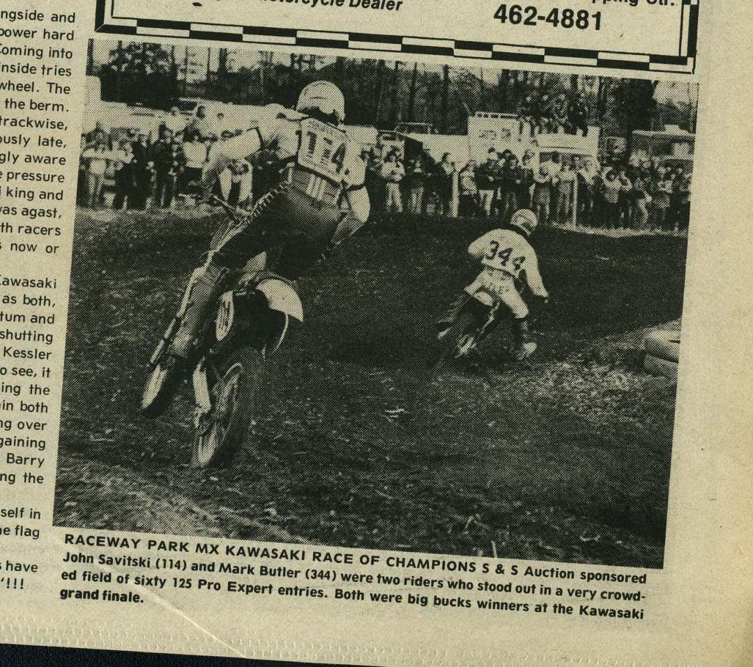 John Savitski and Mark Butler, Raceway News 1982