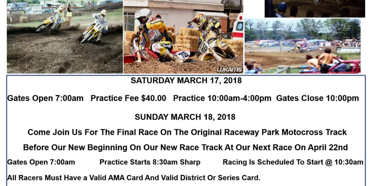 Raceway Park Opening Day Information