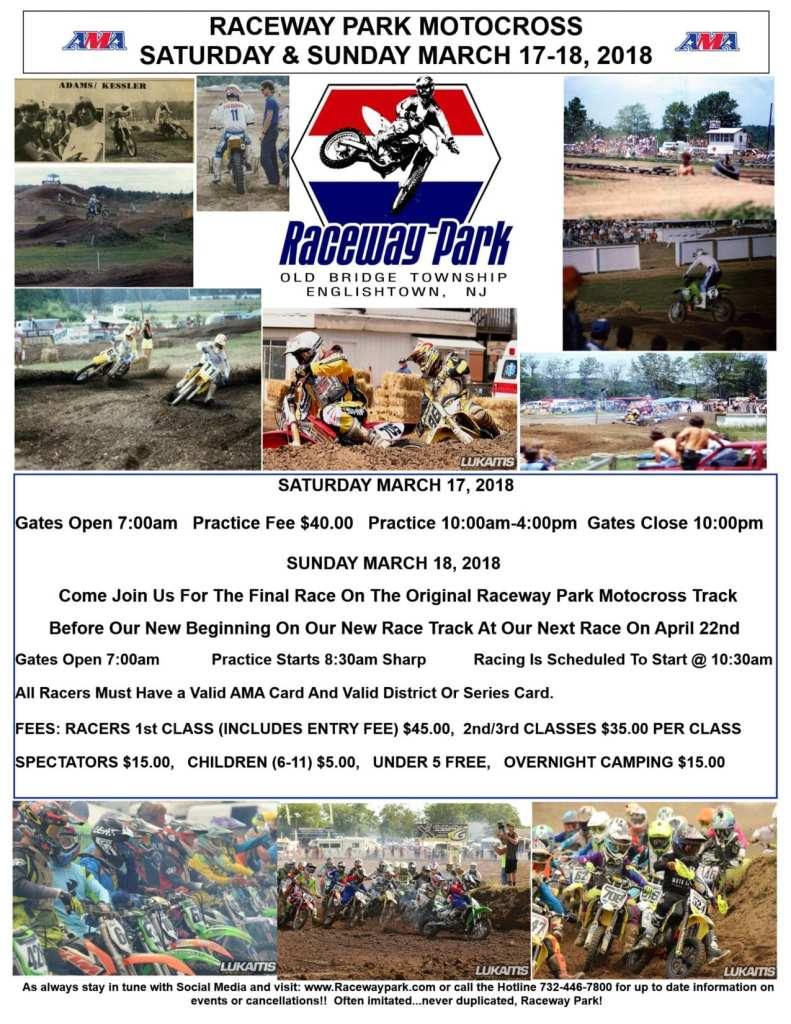 raceway park opening day 2018
