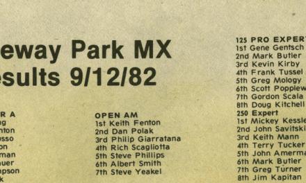 Raceway Park Results 9/12/82
