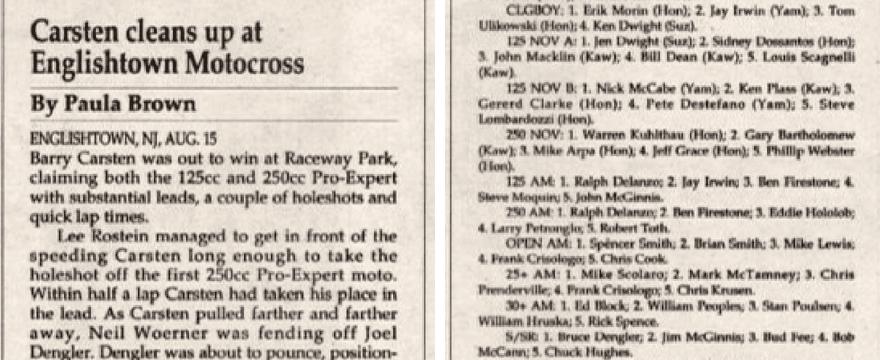 Raceway Park Results 8/15/93