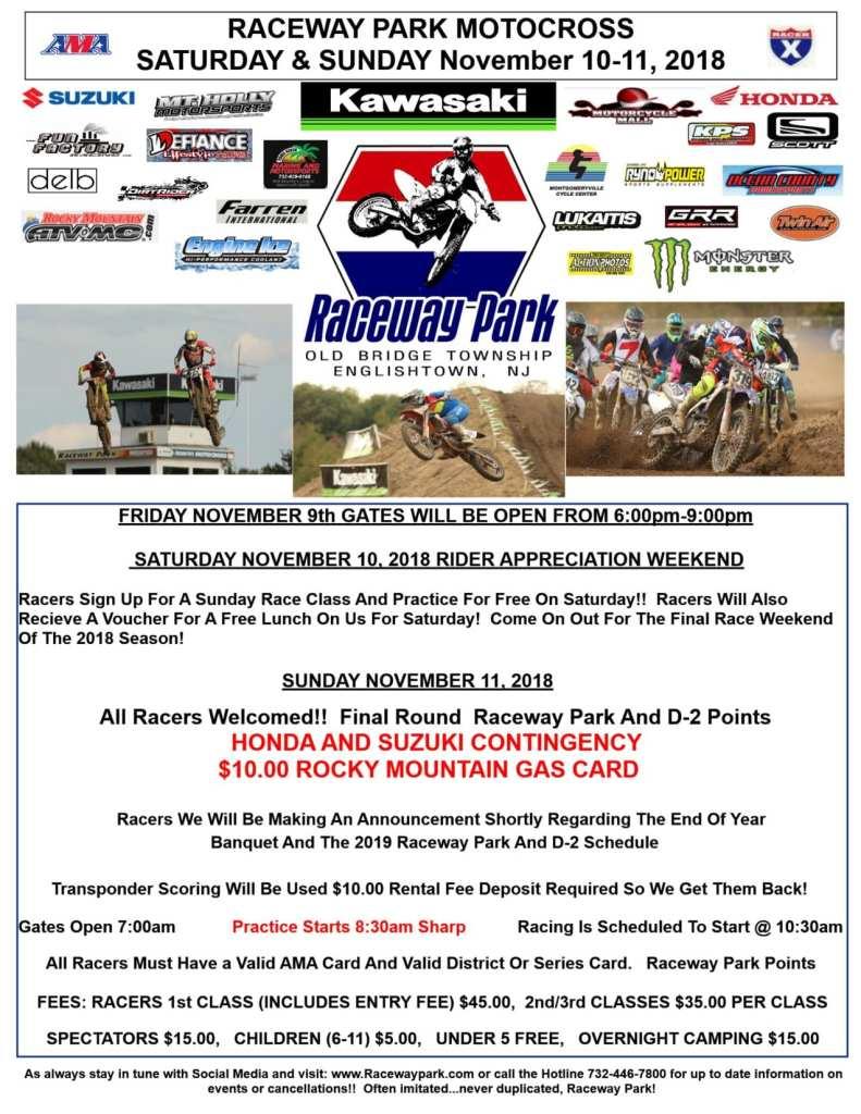 raceway park november 10-11