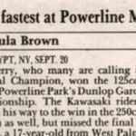 Powerline Park Results – 9/20/92