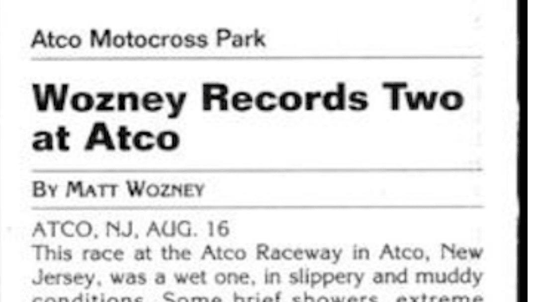 Atco MX Results 8/16/03