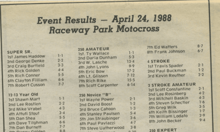 Raceway Park Results from 4/24/88