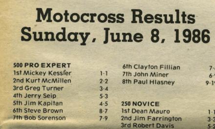 Raceway Park Results – June 8, 1986