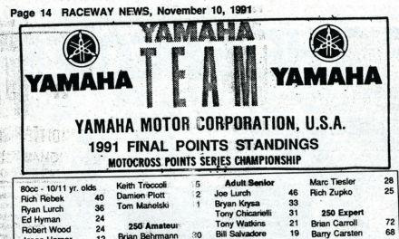 Raceway Park Final Points – 1991
