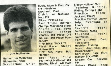 Raceway News Flashback – Racer Profiles 1989