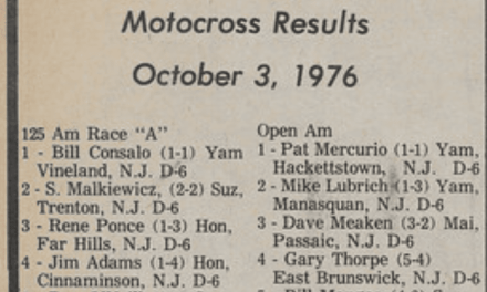 Raceway Park Results from 10/3/76