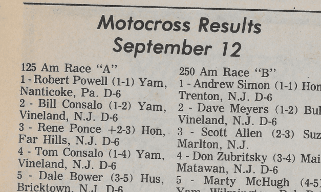 RACEWAY PARK RESULTS FROM 9/12/76