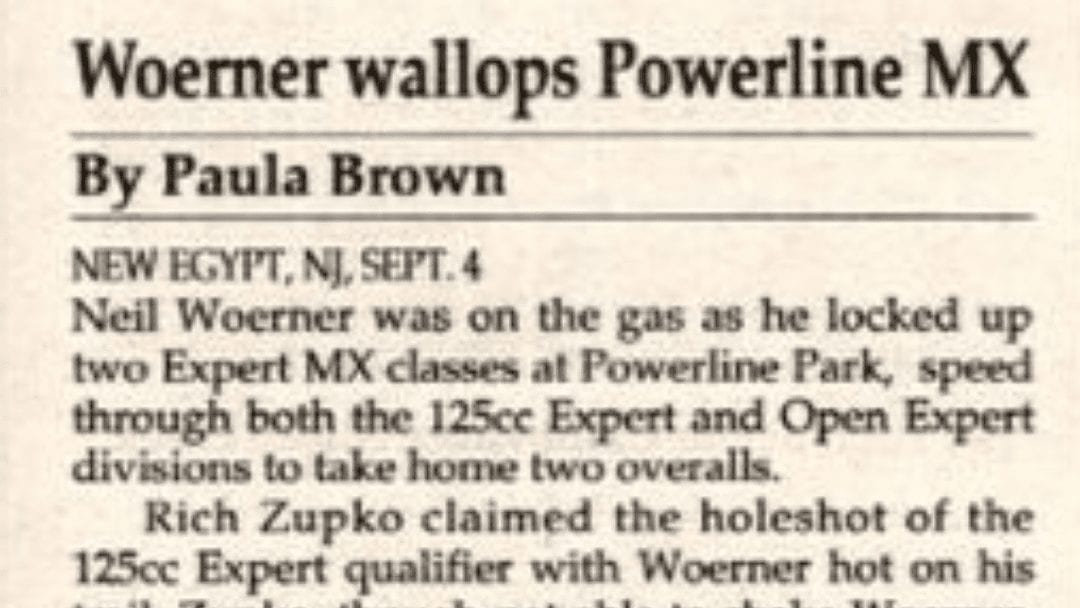 Powerline Park Results from 9/4/93