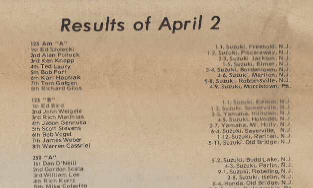 RACEWAY PARK RESULTS FROM 4/2/78