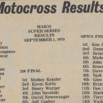 Raceway Park Results from 9/1/79